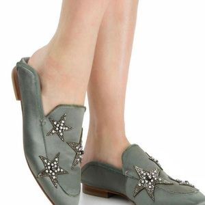 Khaki Star Loafers